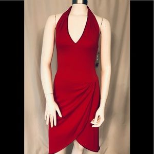 A.B.S. red halter dress
